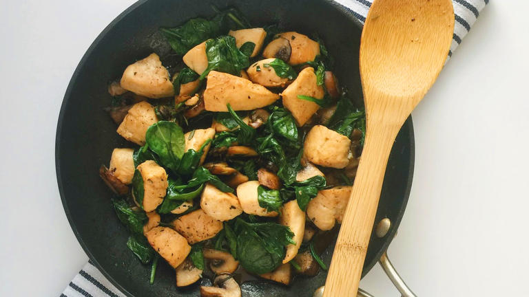 Balsamic Chicken with Mushrooms and Spinach