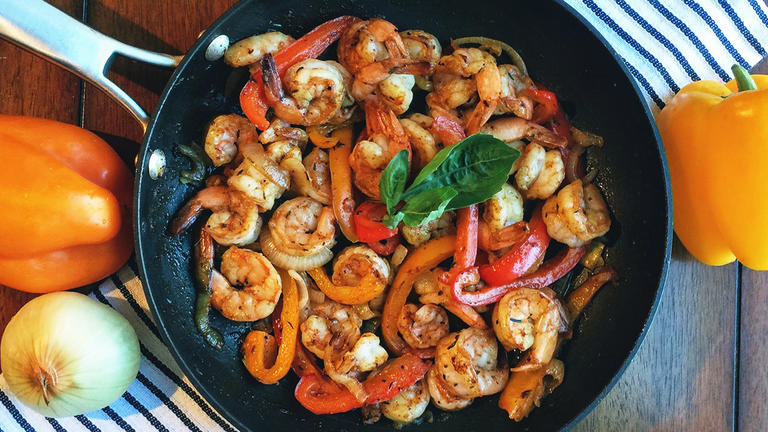 Cajun Shrimp with Peppers and Onions